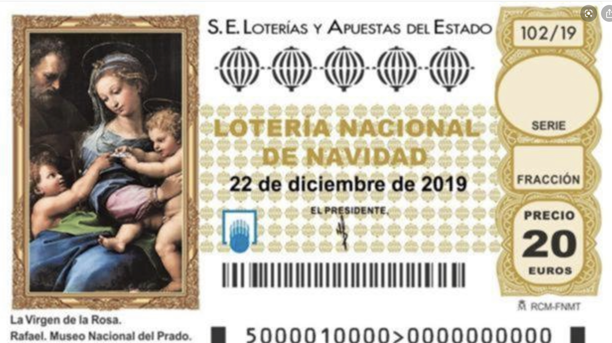 El Sorteo de Lotería de Navidad 2019 reparte este domingo